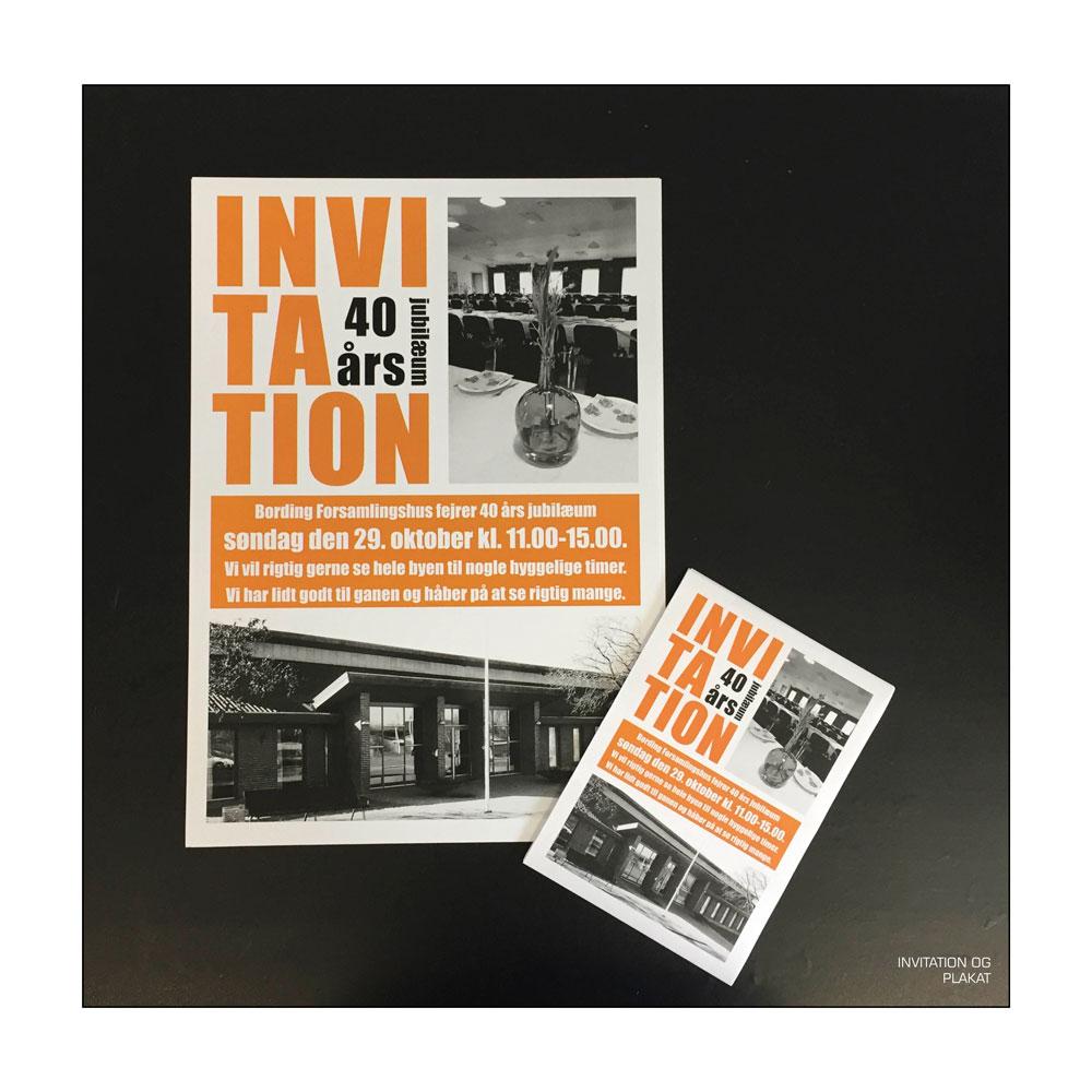 Plakat/invitation – Bording Forsamlingshus