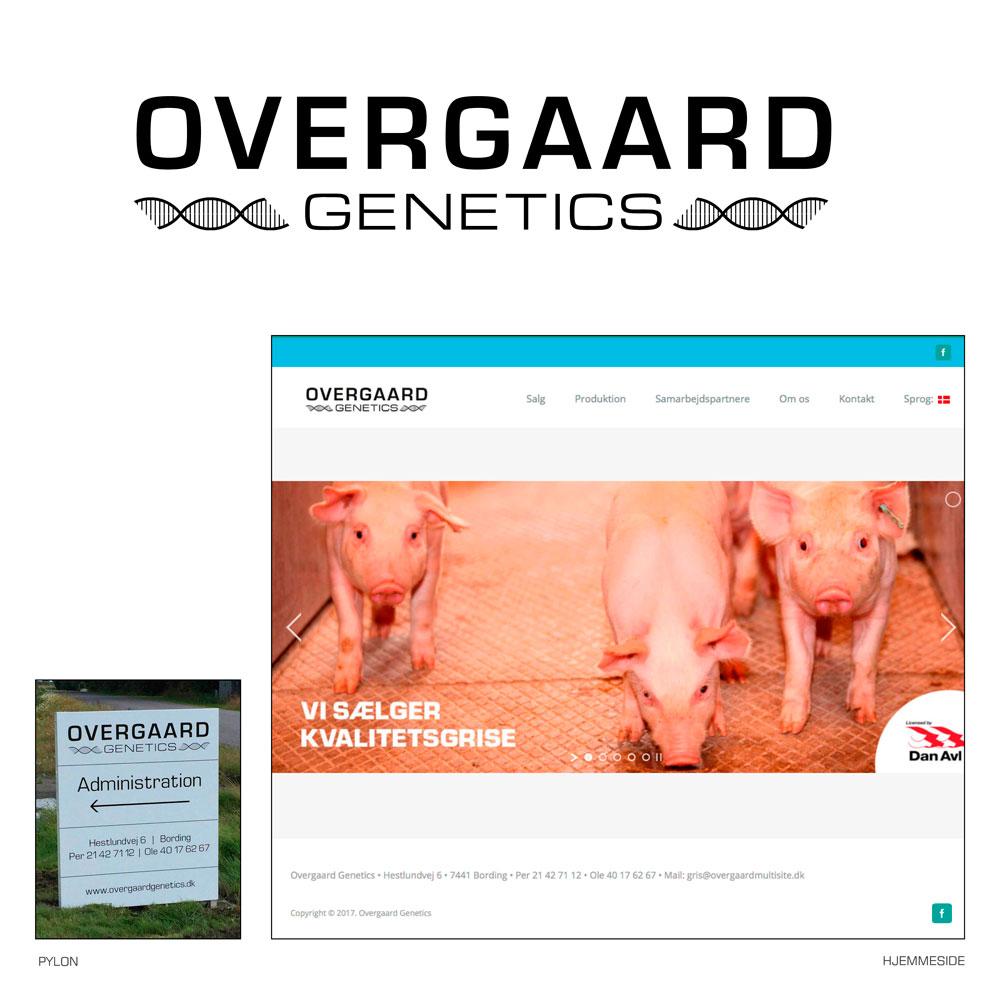 Logo, hjemmeside og pylon – Overgaard Genetics
